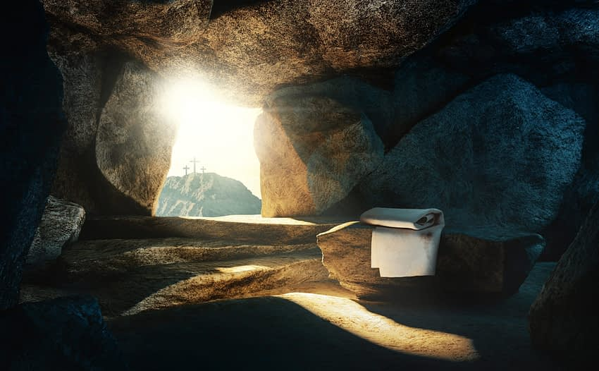 Christ's empty tomb after the Resurrection