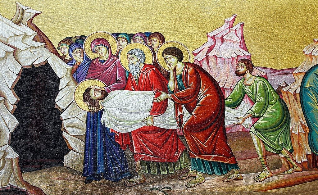 Mosaic Entombment of Jesus