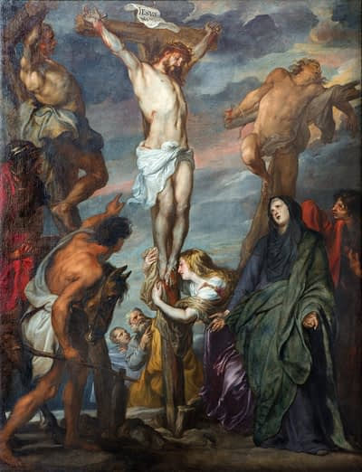crucified along with two thieves