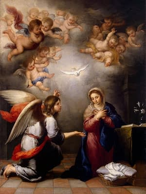 Annunciation by Bartolomé Esteban Perez Murillo