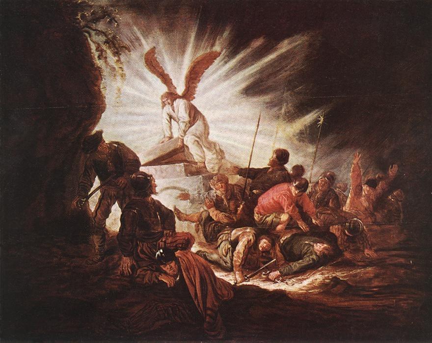 The Angel Opening Christ's Tomb Tomb:  Benjamin Gerritsz