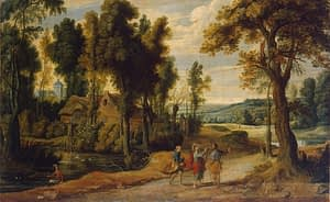 Jan Wildens Desciples with Christ On Emmaus Road