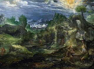 St. Anthony Abbot and St.Paul hermit by Antonin Stevens 1672