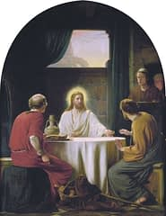 Eyes opened at the breaking of the bread, Emmaus