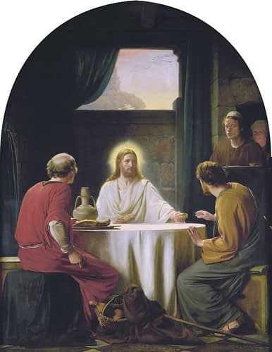 Eyes opened breaking of the bread, Emmaus