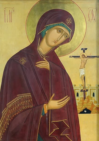 Icon of the Mother of God at the cross