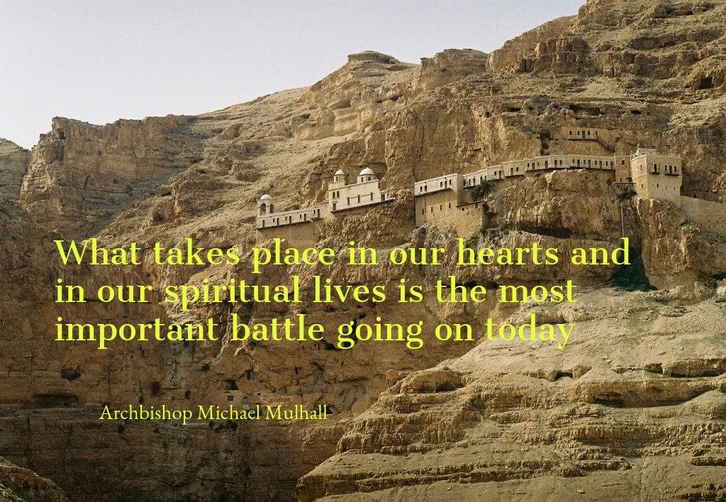 Mountain of Temptation where Jesus spent 40 days