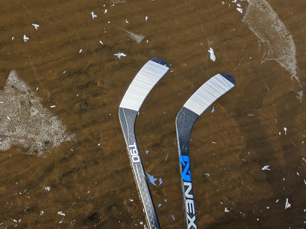 two-inch glass Papineau Lake, Dec 18 2020