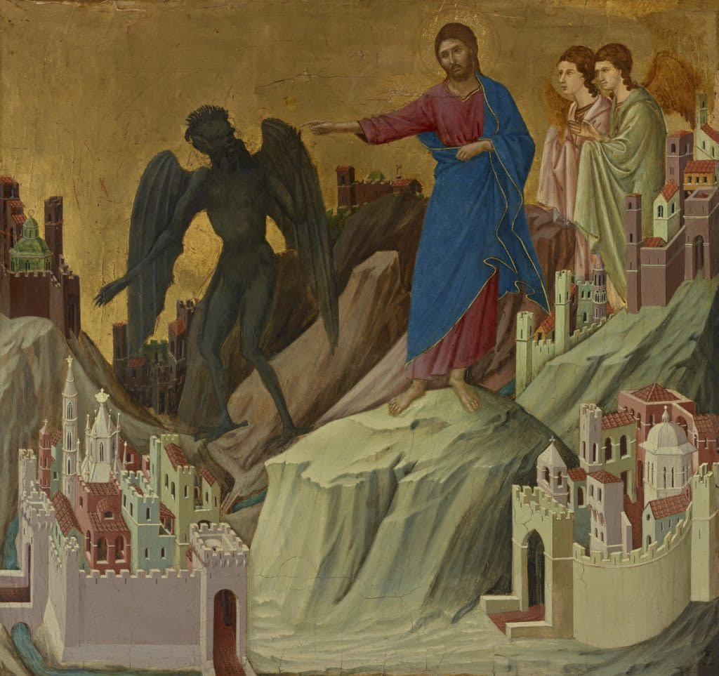 The Temptation on the Mount by Duccio