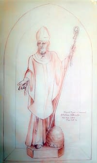 St Ambrose preliminary drawing by Denis Parsons
