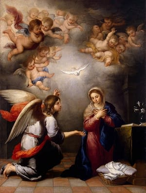 Annunciation by Bartolomé Esteban Perez Murillo