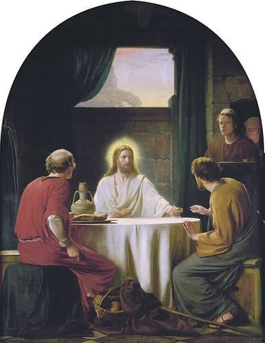 Eyes opened breaking of the bread, Emmaus