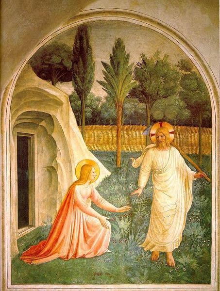 Noli me tangere, fresco by Fra Angelico