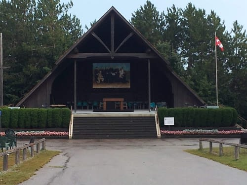 Papal altar at Ste Marie (Martyrs Shrine)