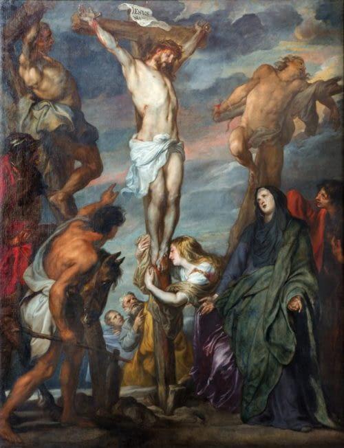 Jesus is crucified. Painting Anton Van Dyck. Image by Renata Sedmakova
