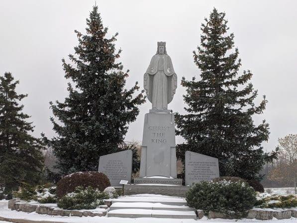 christ the King monument in Burlington