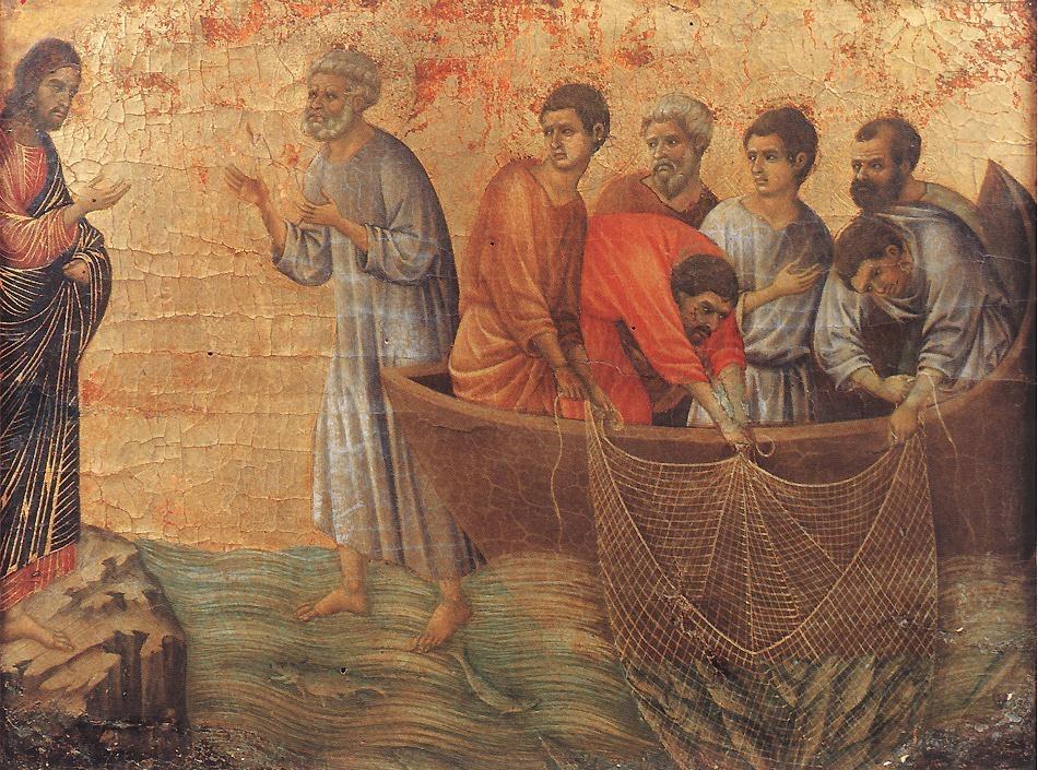 Jesus works a miracle at Lake Tiberias